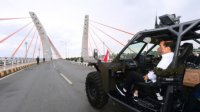 Presiden Jokowi tinjau Jembatan Sei Alala